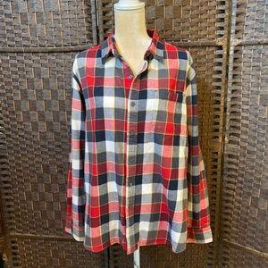 LOGAN & MARTIN plaid men's  shirt v Size Large